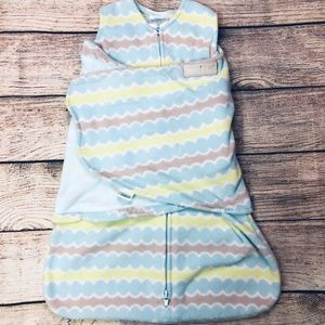 Newborn Halo Swaddle Sleepsack blue/green